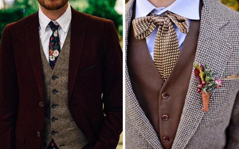 Мужские костюмы для осенней свадьбы