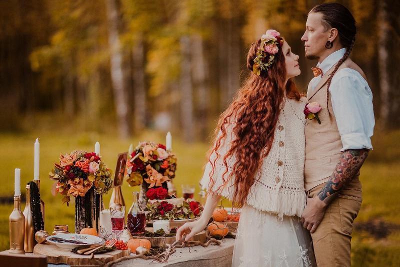 Невеста в пончо