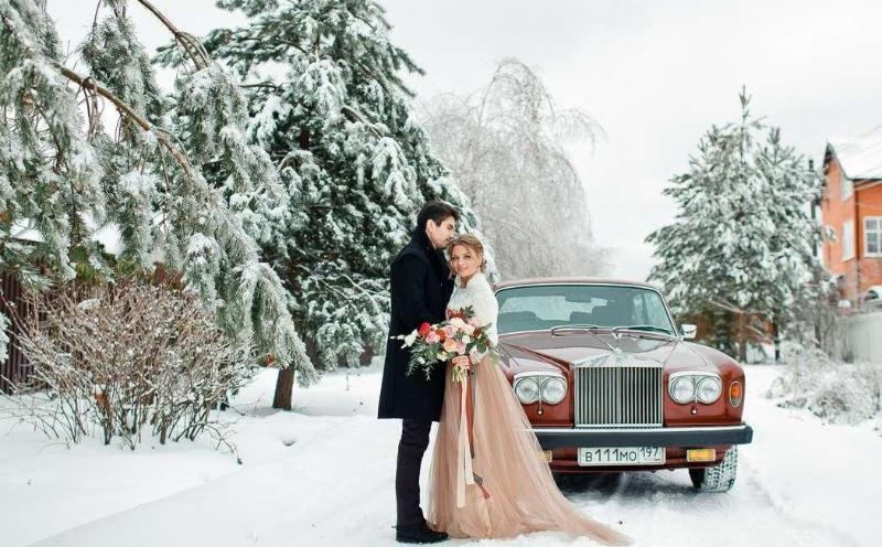 Авто на зимнюю свадьбу