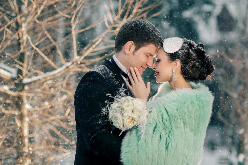 Невеста в шубке