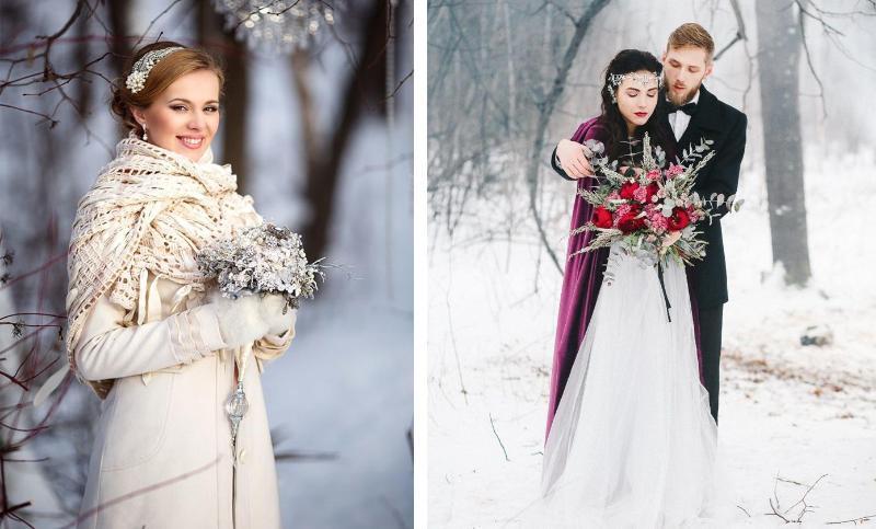 Невеста в верхней одежде