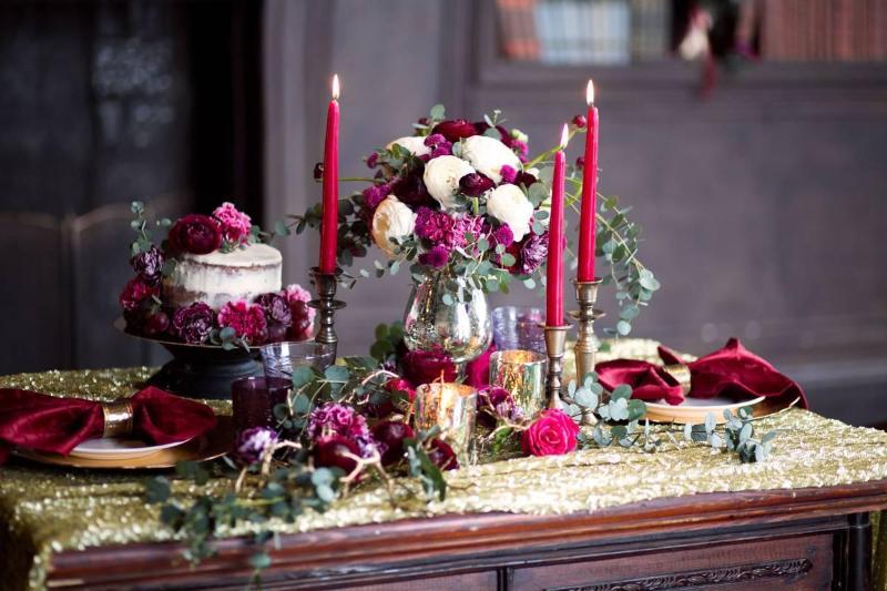 Оформление гранатовая свадьба