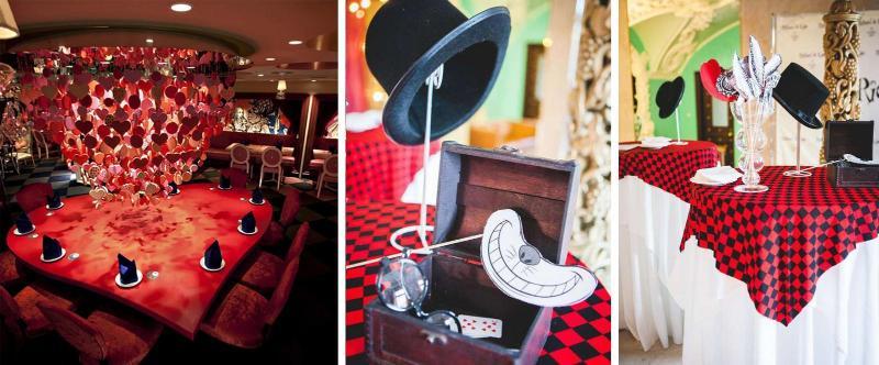 Ресторан в стиле Алиса в стране чудес