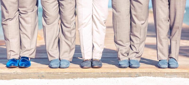 Обувь на свадьбе в пляжном стиле