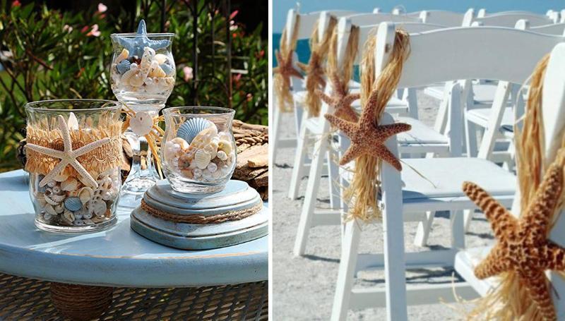 Декор на свадьбе в пляжном стиле